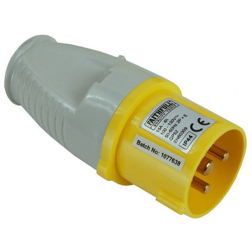 Yellow Plug   16 Amp 110 Volt
