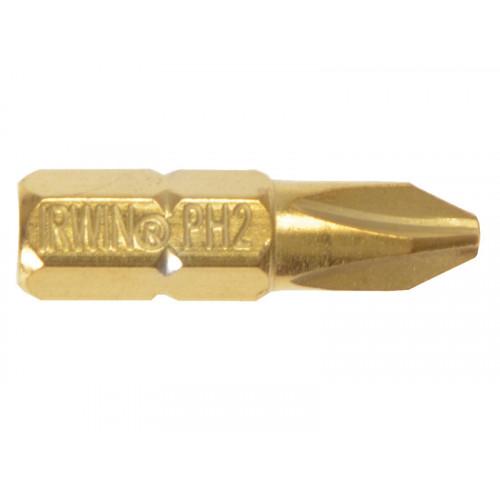 Screwdriver Bits Phillips PH2 25mm Titanium Pack of 10
