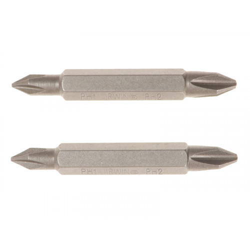 Screwdriver Bits PH1/PH2 Double-Ended 50mm Pack 2