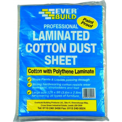LAMINATED COTTON DUST SHEET 12 X 9