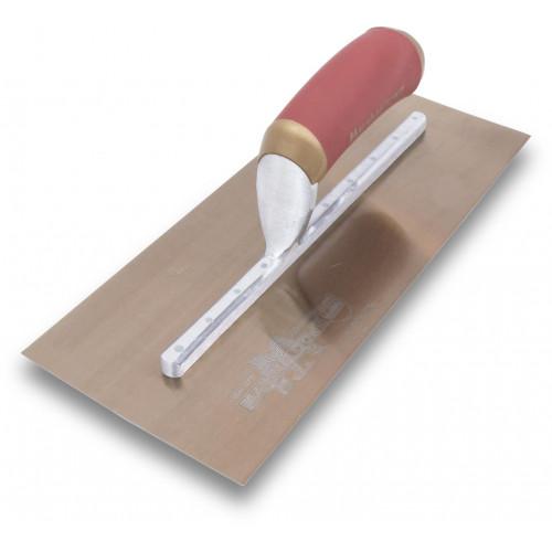 MPB13GSD Pre Worn Plasterers Trowel Gold Stainless Steel 13 x 5in