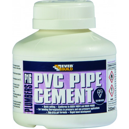 P16 PLUMBERS PVC PIPE CEMENT 250ML