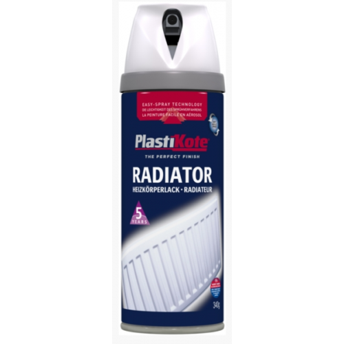 PLASTI-KOTE RADIATOR GLOSS WHITE (618/649) 400MLS