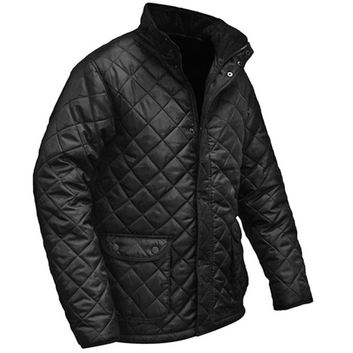 Black Quilted Jacket X Large