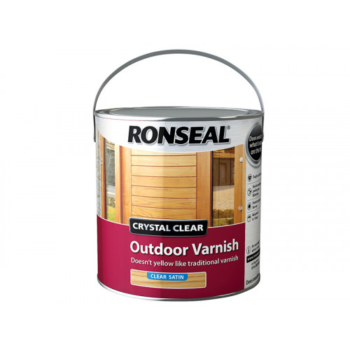 Ronseal Crystal Clear Outdoor Varnish Satin 2.5 Litre