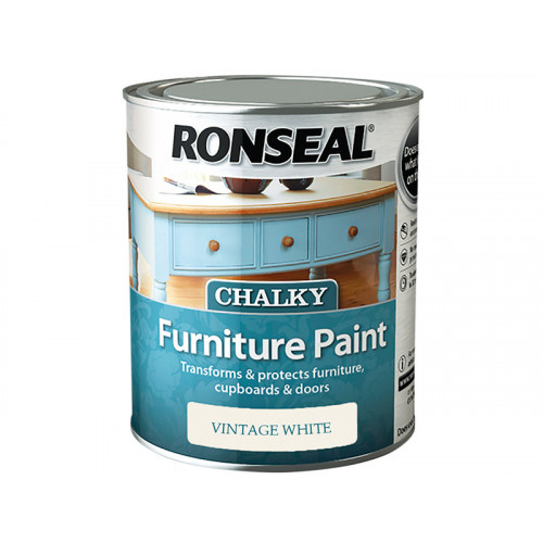 Ronseal Chalky Furniture Paint Vintage White 750ml