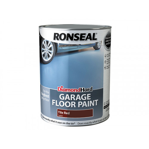 Ronseal Diamond Hard Garage Floor Paint Tile Red 5 Litre