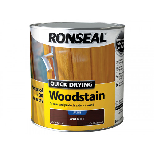 Ronseal Quick Drying WoodstainSatin Walnut 2.5 Litre