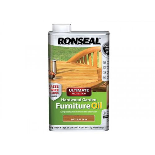Ronseal Ultimate Protection Hardwood Garden Furniture Oil Natural Teak 1 Litre