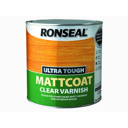 Ronseal Ultra Tough Internal Clear Mattcoat Varnish 2.5 Litre