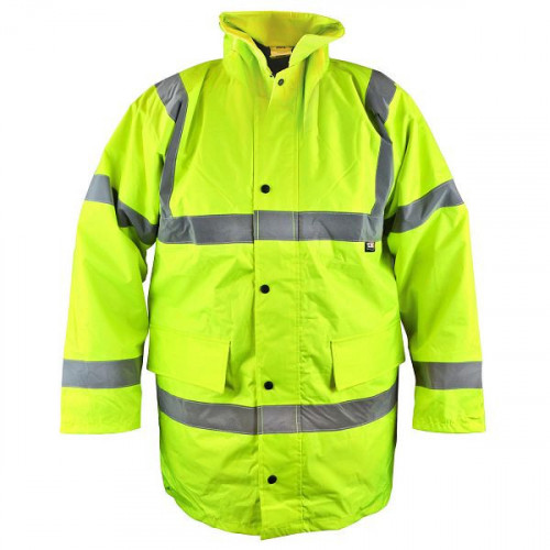 Hi-Vis Motorway Jacket Yellow - L (42-44in)