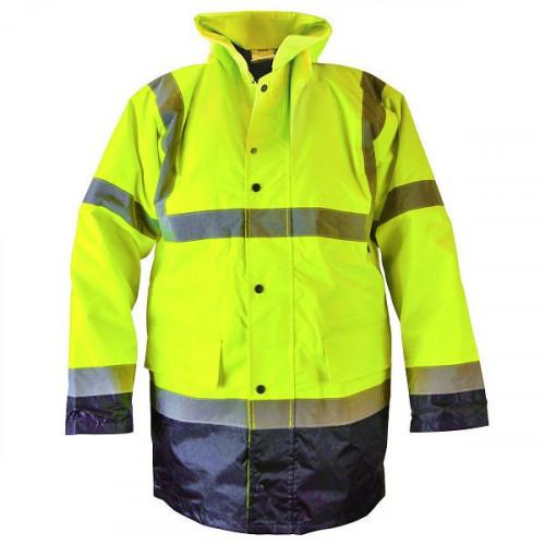 Hi-Vis Motorway Jacket Yellow Black - M (39-41in)