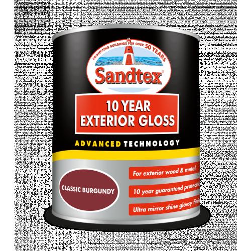 Sandtex Retail 10 Year Gloss Classic Burgundy 750Mls