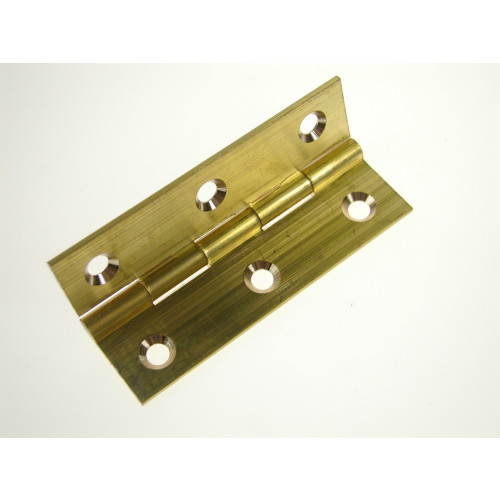 """105 Solid Drawn Brass Butt Hinge 25mm / 1"""" BR (Pair)"""