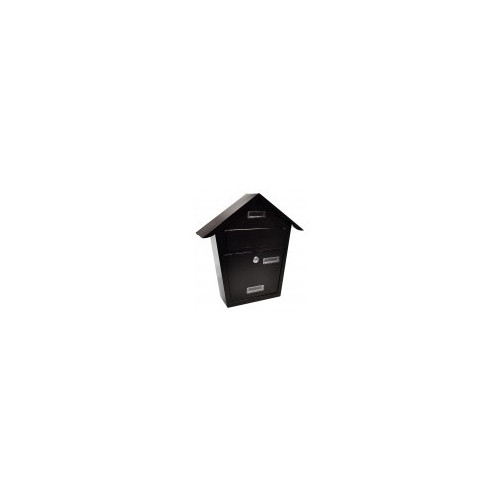 Steel Plate Black Post Box