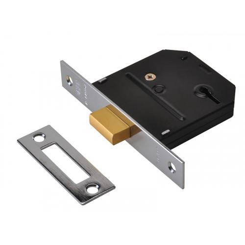 ES-DL Polished Brass Essentials 3 Lever Mortice Deadlock Visi 79mm 3in