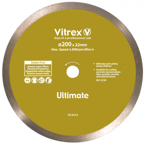 10 3412 Diamond Blade Ultimate 200mm