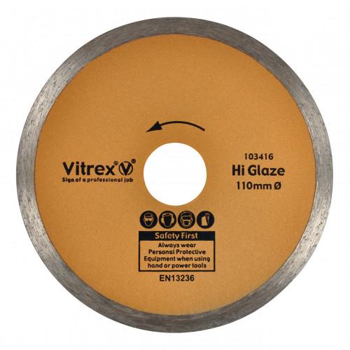 10 3416 Diamond Blade Hi Glaze 110mm