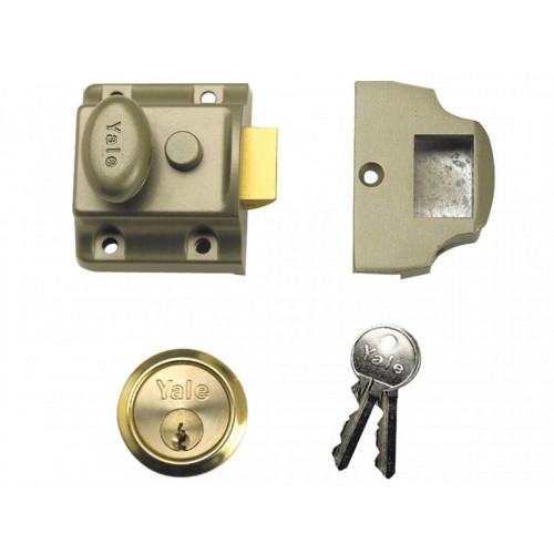 706 Traditional Nightlatch PB 40mm Backset Box