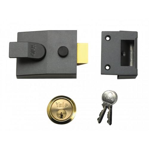 88 Standard Nightlatch DMG Brass Cylinder 60mm Backset Box