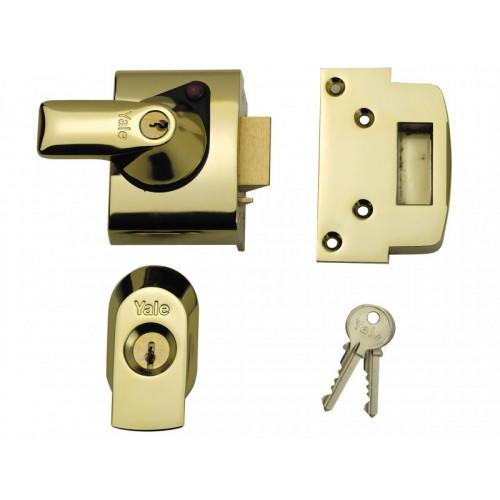 BS2 Nightlatch British Standard Lock 40mm Brasslux Finish Visi