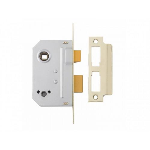 PM236 Bathroom 2 Lever Sash Lock 67mm 2.5in Polished Chrome