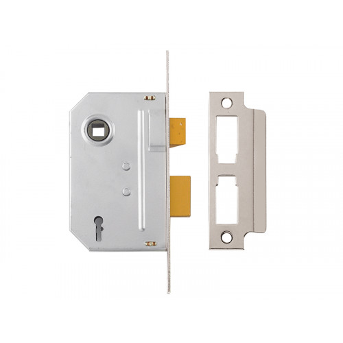 PM320 3 Lever Mortice Sash Lock 67mm 2.5in Polished Chrome
