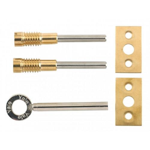 8013 Dual Screw Window Lock Brass Finish Pack of 2