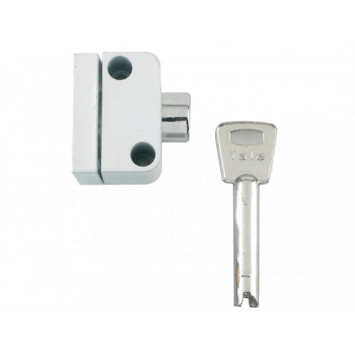 8K102 Push Button Window Lock White Finish Visi