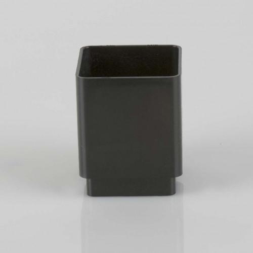 Pipe Socket Square 65mm - Black