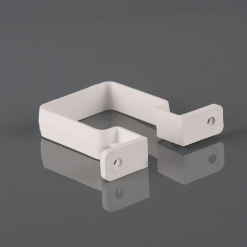 Downpipe Clip Square 65mm - Black