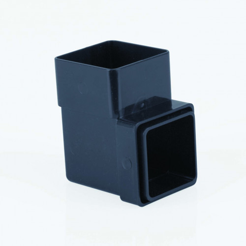 90 Deg Bend Square 65mm - Black