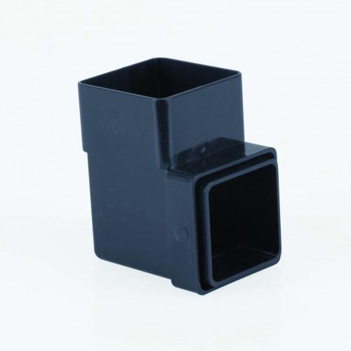 90 Deg Bend Square 65mm - Black