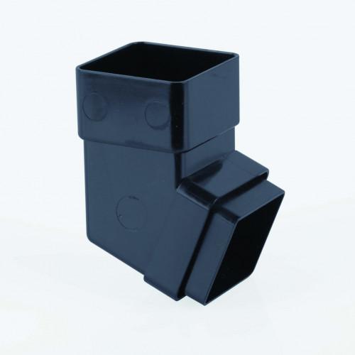 112 Deg Offset Bend Square 65mm - Black