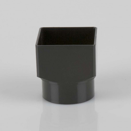Square to Round Downpipe Adaptor 65/68mm - Black