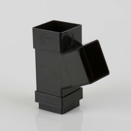 112 Deg Branch Square 65mm - Black