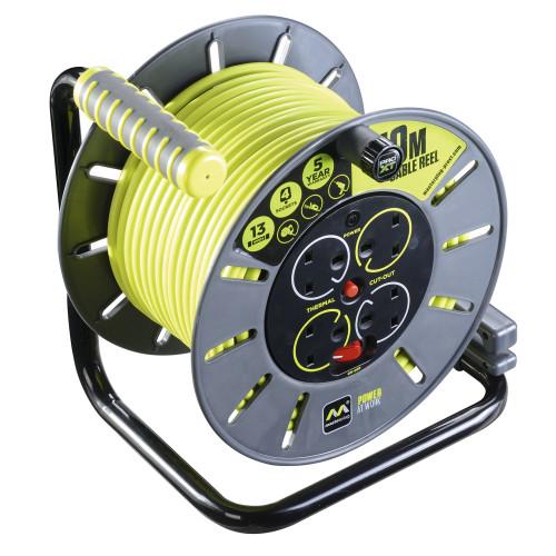 Cable Reel 50 Metre 13 Amp 230 Volt