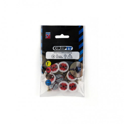 Gripit Red Plasterboard Fixing Pack 8