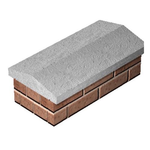 600x300 Twice Weathered Coping Stone Grey