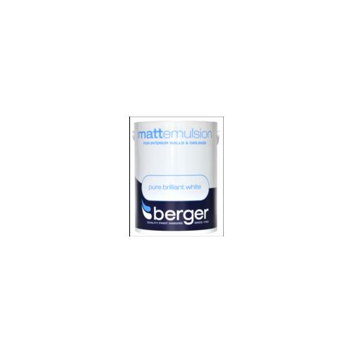 BERGER MATT BRILLIANT WHITE 5litre