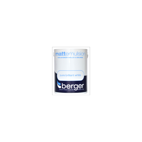 BERGER MATT BRILLIANT WHITE 5 litres